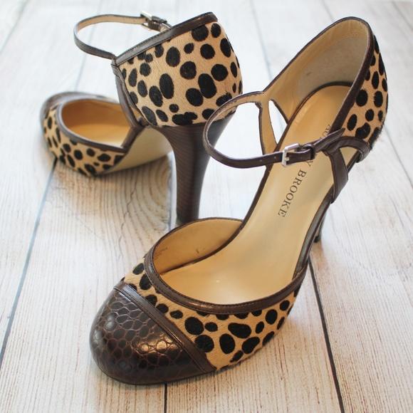ba407a388506 Audrey Brooke Shoes | 75 High Heels Brown Leopard Print | Poshmark